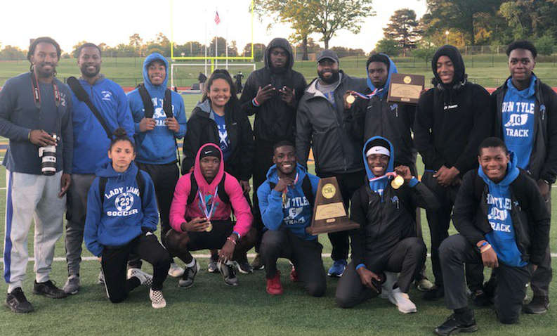 6b81ede3dd9b2 The John Tyler Lions won the Area District 15-16 5A Track & Field  Championships on Thursday at Pine Tree Stadium in Longview.