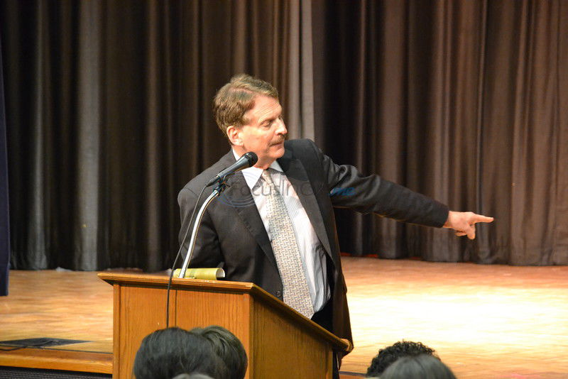 Speaker metaphorically transports All Saints students back in time