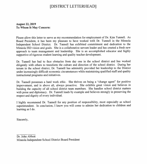 Abbott letter of recommendation for Tunnell     tylerpaper com