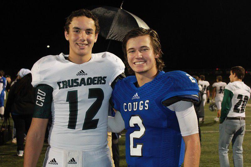 Grace, Gorman QBs grew up trick-or-treating, playing football together
