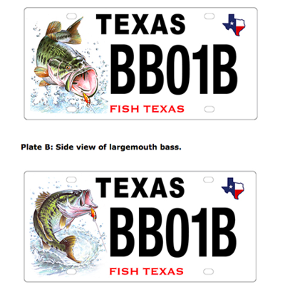 Texas seeks your input online for new bass license plate