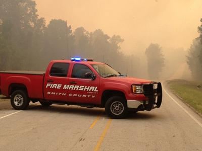 Large fire threatening homes in Jackson-Winona area of Smith County