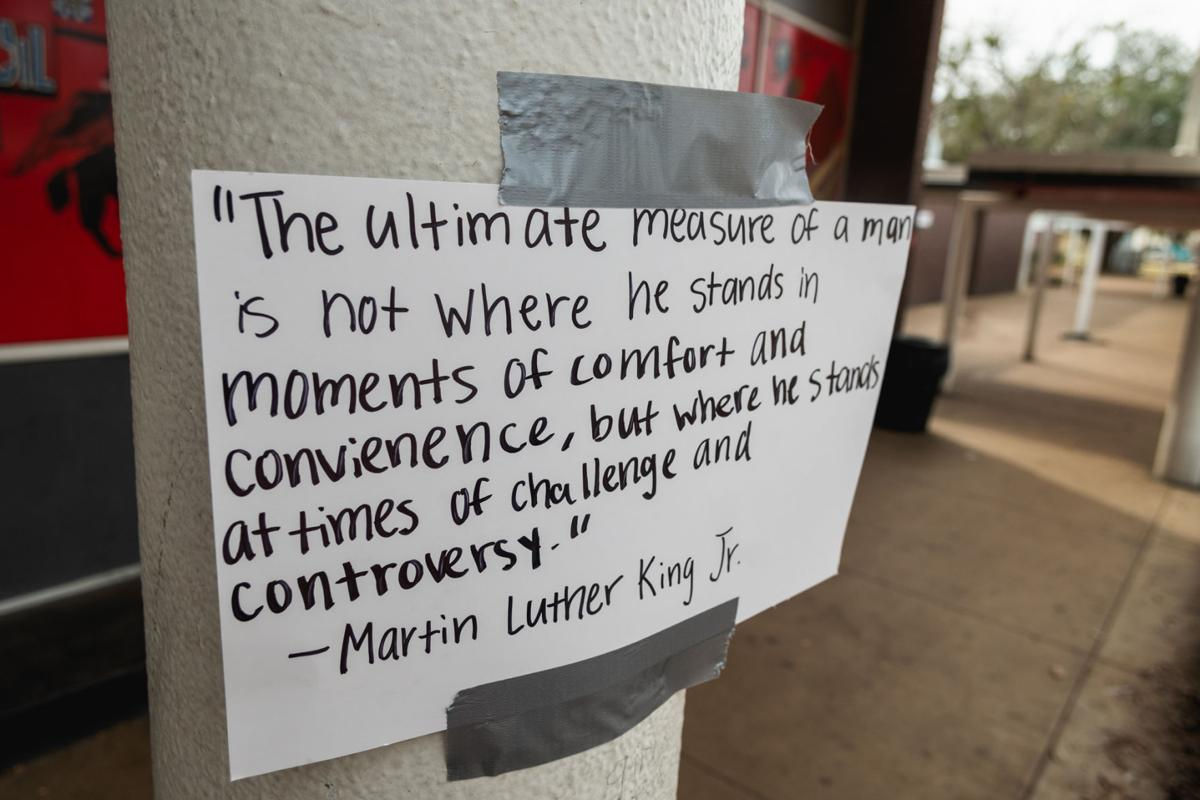Lee senior showcases Martin Luther King Jr. quotes with ...
