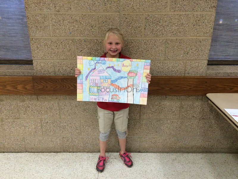 Children given awards in fire prevention contest