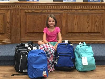 Lindale girl gathers school supplies for fellow students