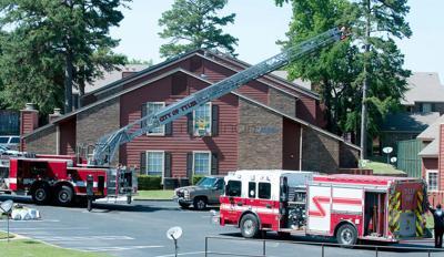 Apartment fire displaces 3 families