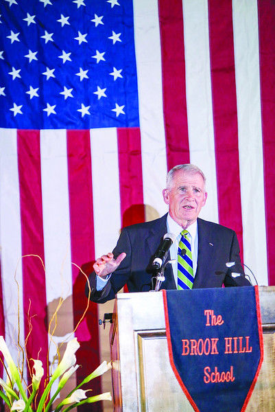 Lt. Col. Oliver North praises Christian education at The Brook Hill School Founder's Day Celebration