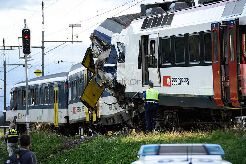 Swiss TV: Police say 44 injured in train collision