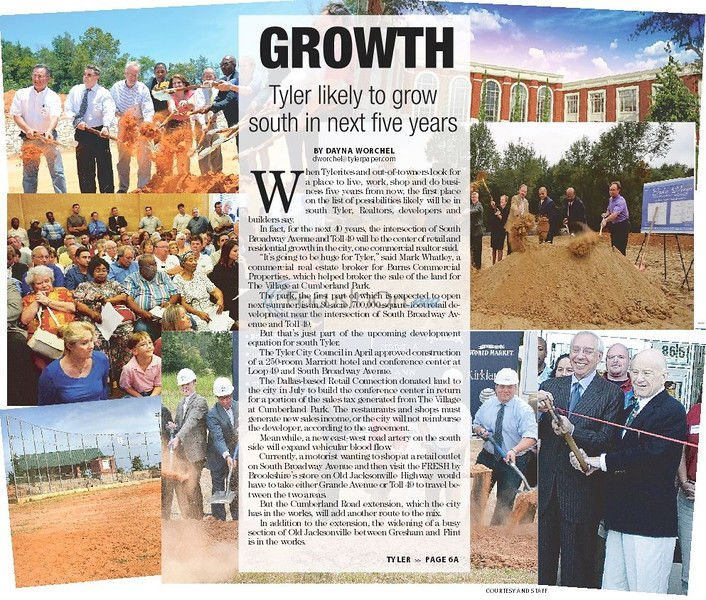 Growth: Tyler likely to grow south in next five years