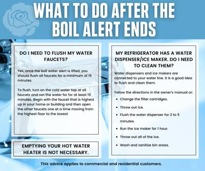what to do after boil water alert ends