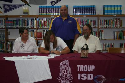 Troup's Caitlin Signs With Jacksonville College