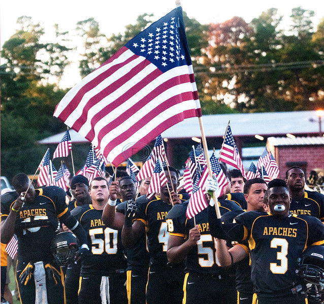 Off the Gridiron: TJC Apaches put patriotism on display