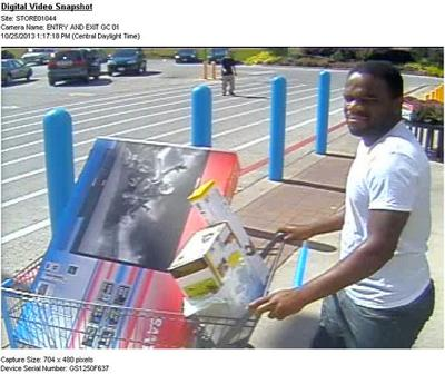 Police searching for man accused of stealing TV from Wal-Mart