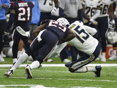Houston Texans cornerback Kareem Jackson fined $24K for helmet-to-helmet hit