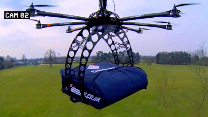 Drones delivering Domino's pizzas to doorsteps in New Zealand