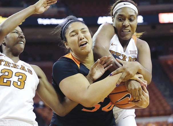 No. 8 Texas women rally late to beat No. 20 Oklahoma State 82-79