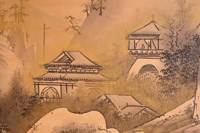 Tyler Museum of Art showing newly restored 18th century Chinese landscape screens