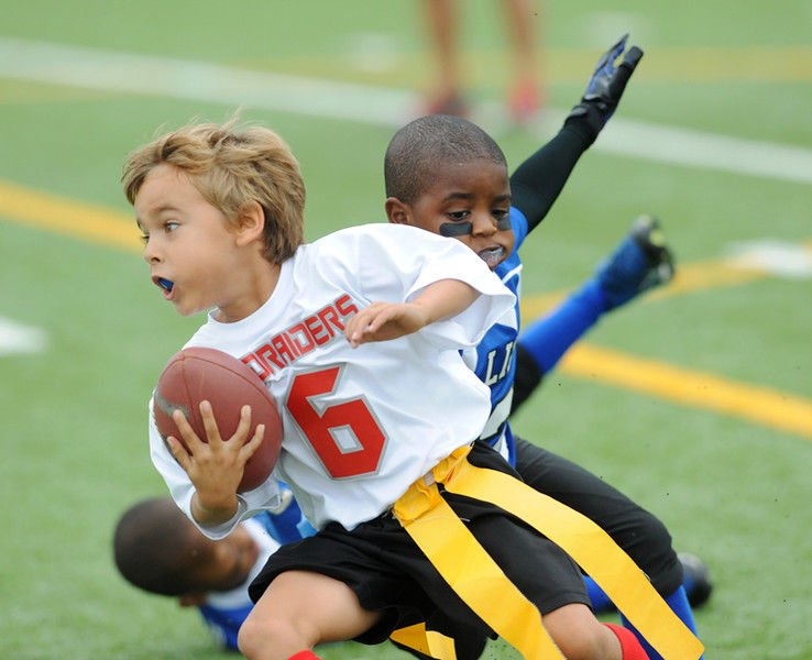 Pee wee football teaches boys discipline and accountability