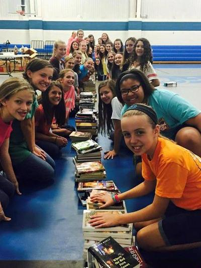 Grace Community Junior High Sister Squad leads book drive for flooded Louisiana school