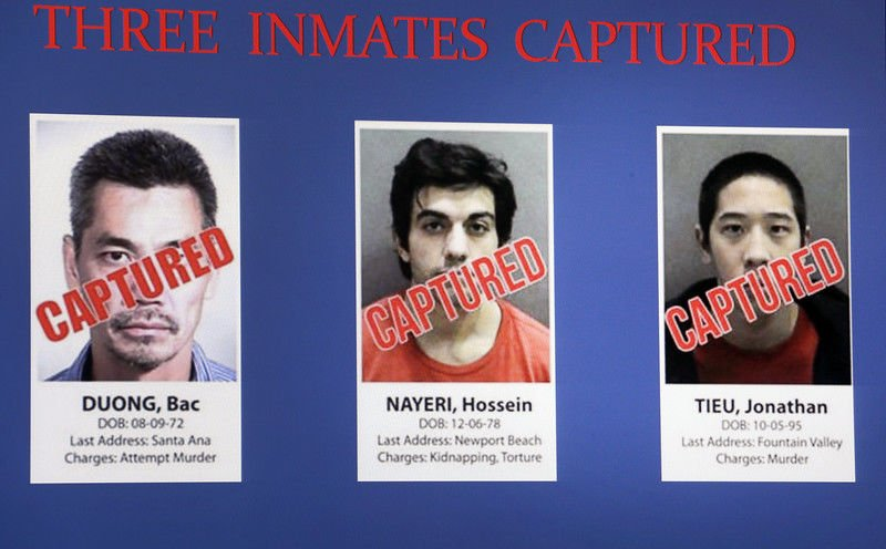 Inmates' escape video shows everything is caught on tape