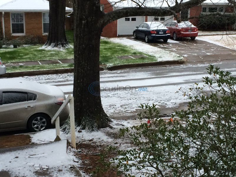 Freezing precipitation has moved east of Tyler