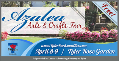 Azalea Arts and Crafts Fair to be held in Tyler Rose Garden