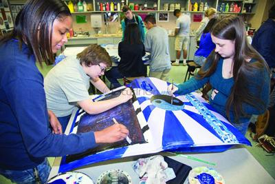 Art students at Lufkin High create with car doors