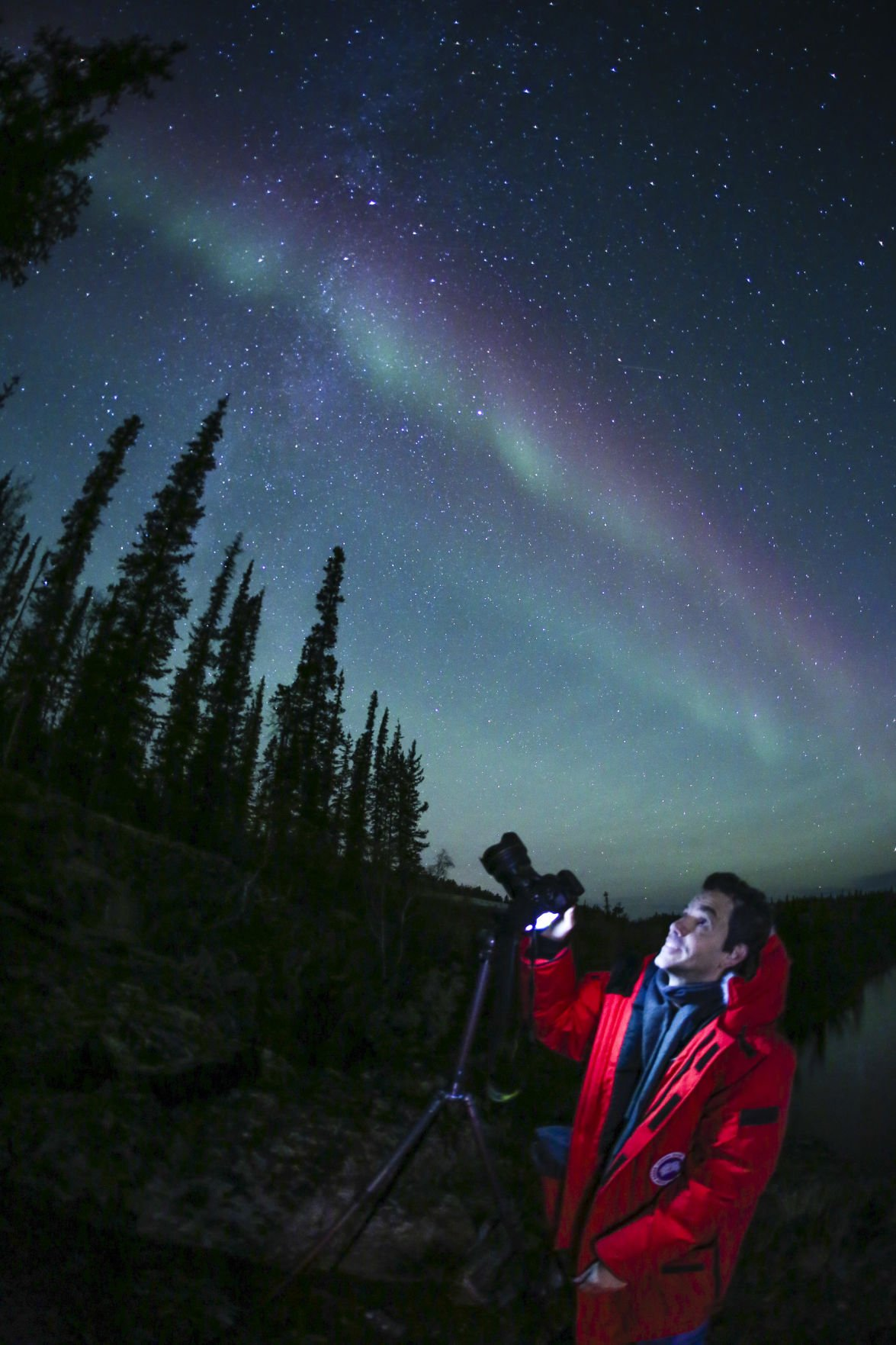 Photographing auroras in Yellowknife