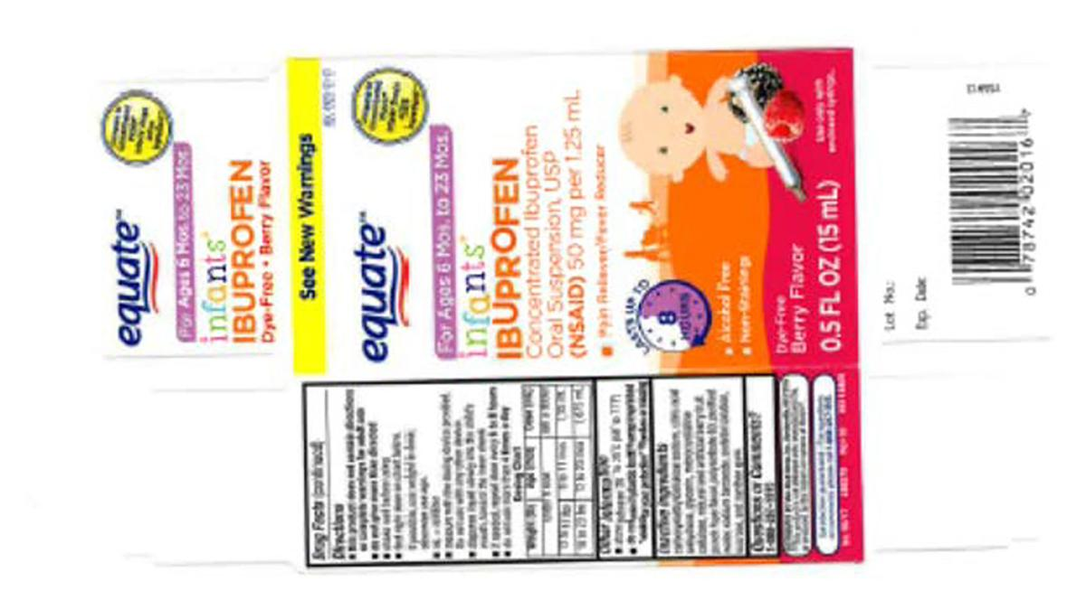 Recall of Infant Ibuprofen sold through Wal-Mart, CVS and Family