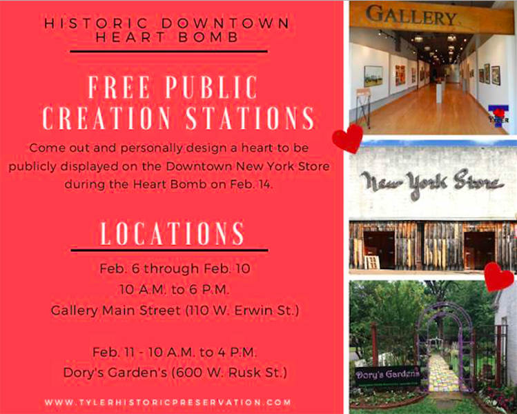 City to host community engagement project: Downtown Historic Heart Bomb