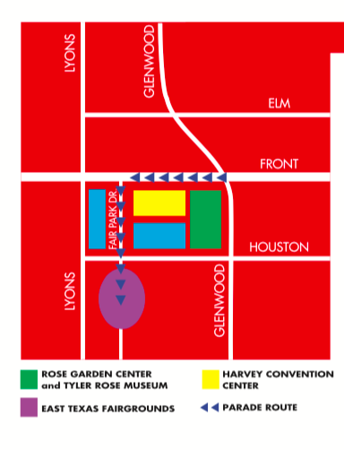 Traffic delays and detours for Texas Rose Festival Parade
