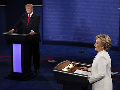 Hillary Clinton and Donald Trump in final 2016 Presidential debate showdown