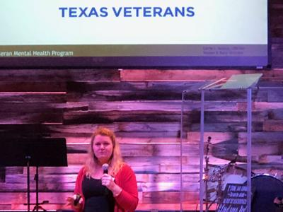 Carrie Sconza of the Texas Veterans Commission