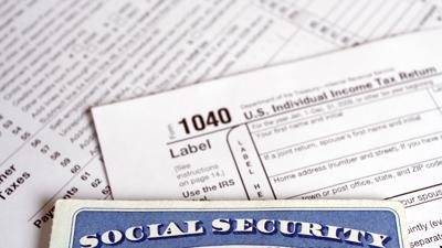 irs 1040 form and social security card