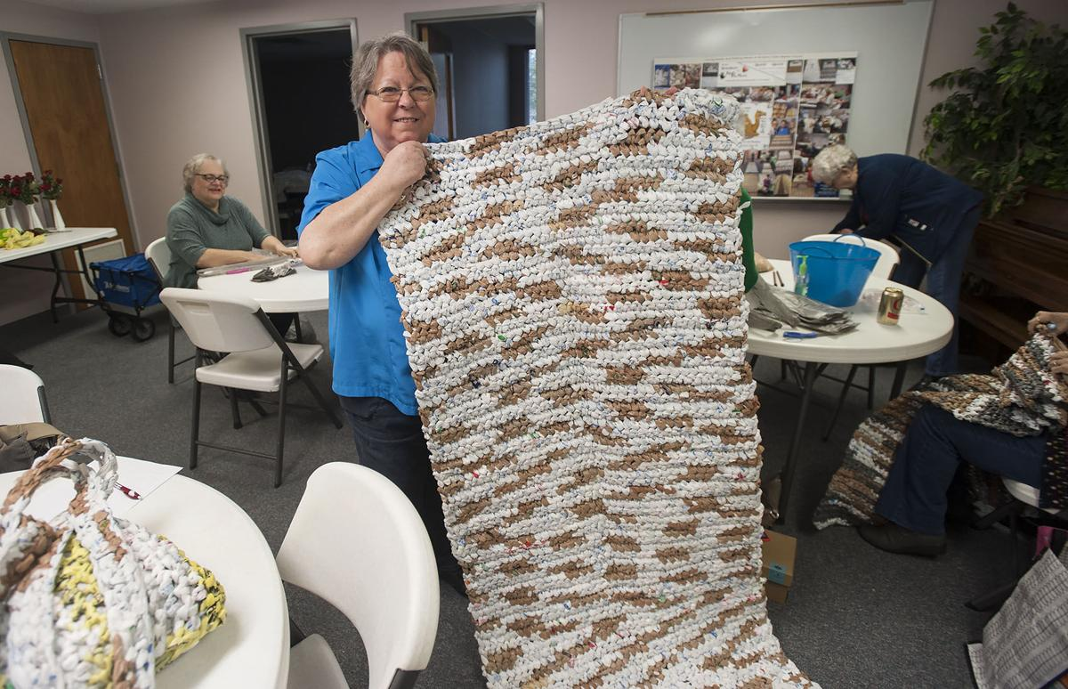 Volunteers Use Plastic Grocery Bags To Make Sleeping Mats