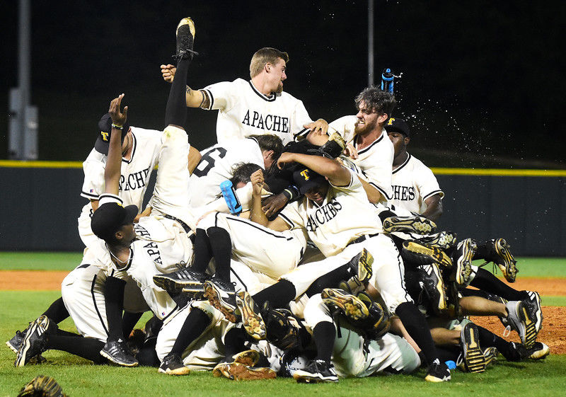 TJC baseball revels in 4th straight, 5th overall national title