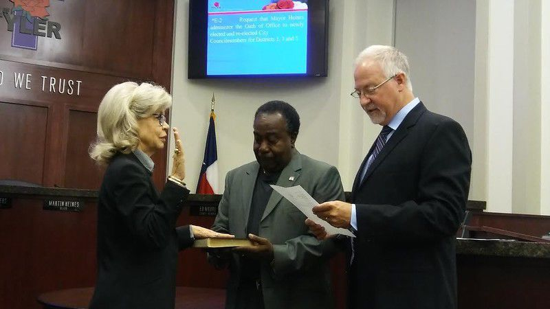 Westbrook, Sellers and Moore sworn in to new terms on Tyler City Council