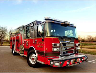 Bullard Volunteer Fire Department recieves new fire engine, celebrate with push-in ceremony
