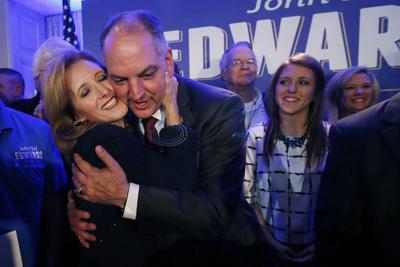 Democrats celebrate victory in Louisiana governor's race runoff election