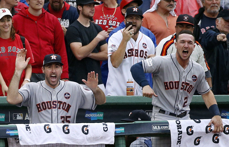 Astros beat Red Sox 5-4 in Game 4, advance to American