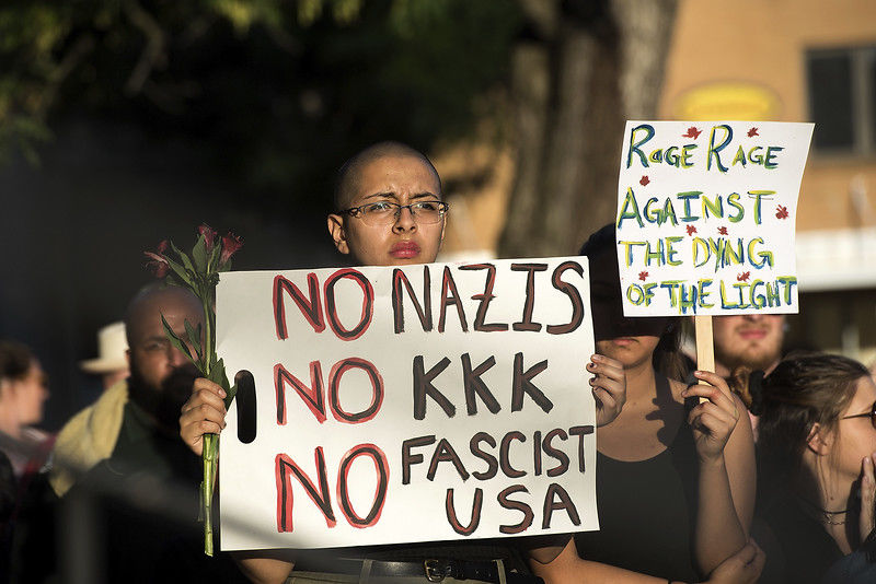 The Latest: Trump condemns KKK, neo-Nazis as 'thugs'