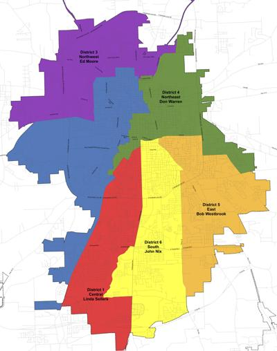 District Map - Tyler City Council