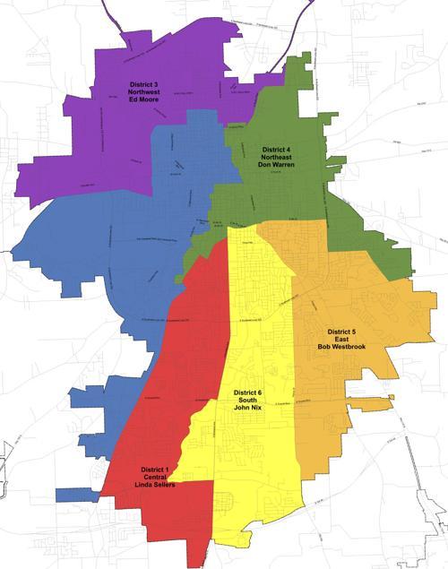 District Map Tyler City Council Tylerpaper Com