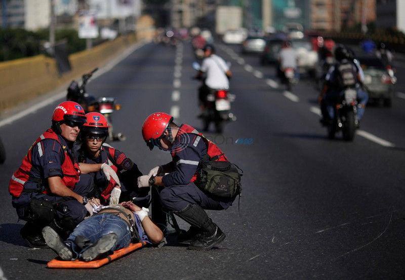 In Venezuelan capital, a 'plague' of motorcycles