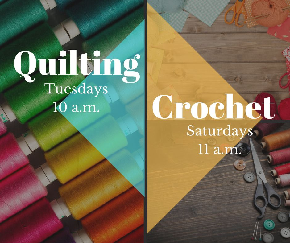 Crafting at Tyler Public Library