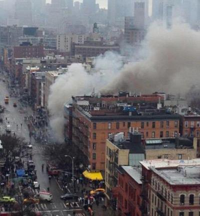 New York City fire, building collapse injure 2 critically