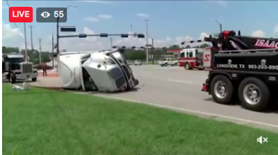UPDATE: Southbound lanes closed after overturned 18 wheeler accident