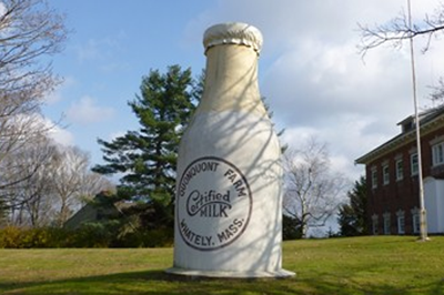 Whately Mass. giant milk bottle gets a makeover