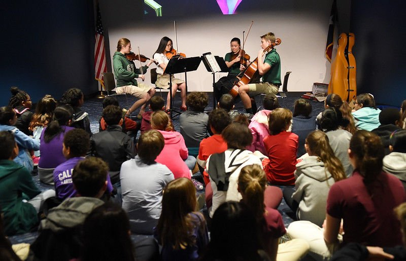 Bishop Gorman's Dolce Vita String Quartet performs Symphony Stories at Tyler Public Library