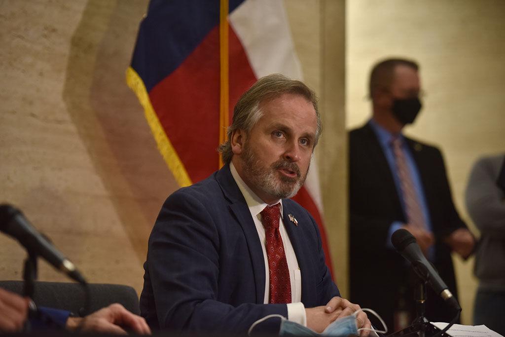 State Sen. Bryan Hughes speaks on Senate Bill 12